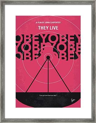 No919 My They Live Minimal Movie Poster Framed Print