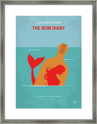 No925 My The Rum Diary Minimal Movie Poster Framed Print