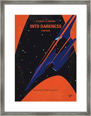 No931 My St Into Darkness Minimal Movie Poster Framed Print