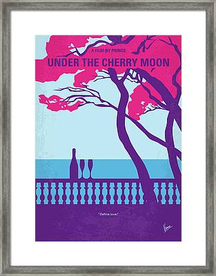 No933 My Under The Cherry Moon Minimal Movie Poster Framed Print