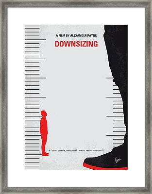 No934 My Downsizing Minimal Movie Poster Framed Print