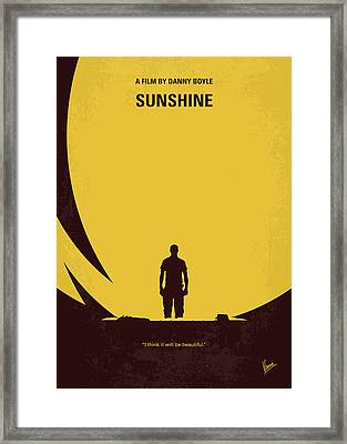No947 My Sunshine Minimal Movie Poster Framed Print