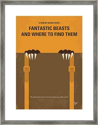 No962 My Fantastic Beasts And Where To Find Them Minimal Movie Poster Framed Print