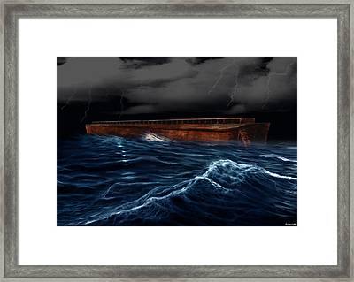 Noah Ark Framed Print by Evelyn Patrick