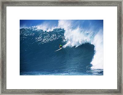 Noah At Waimea Framed Print by Vince Cavataio - Printscapes