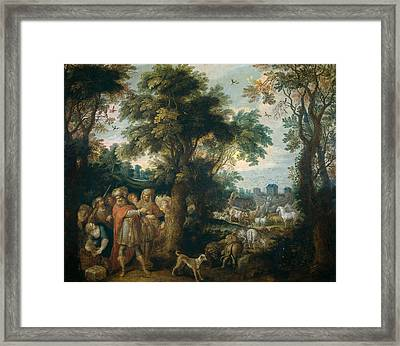 Noah Directs The Entry Of Animals Into The Ark Framed Print by Frans Francken the Younger