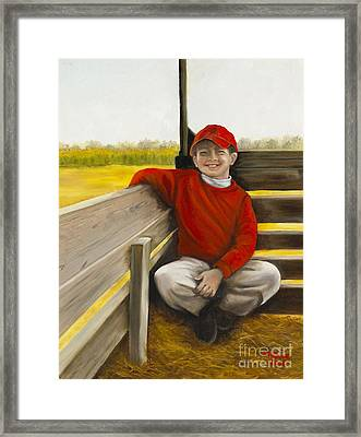 Noah On The Hayride Framed Print