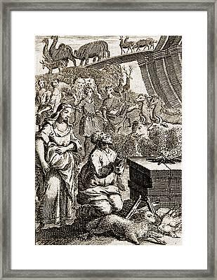 Noah Preparing First Sacrifice After Framed Print