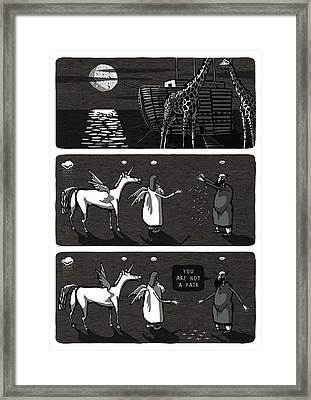 Noah. They Aren't A Pair. Unicorn And Angel. They Could Live On Our Planet Earth Framed Print