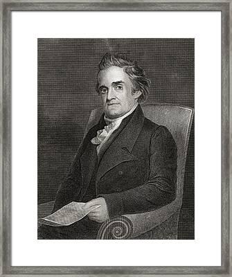 Noah Webster 1758 To 1843 American Framed Print