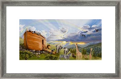 Noah's Ark Framed Print by Cheryl Allen