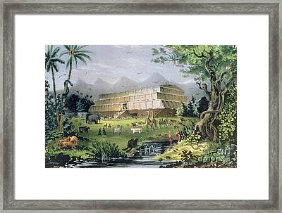 Noahs Ark Framed Print by Currier and Ives