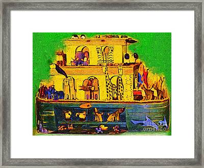Noahs Ark From My Point Framed Print by Deborah MacQuarrie-Selib