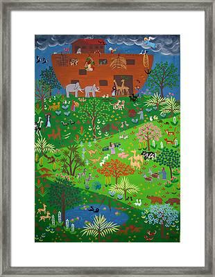 Noahs Ark Framed Print by Isolda Nouel