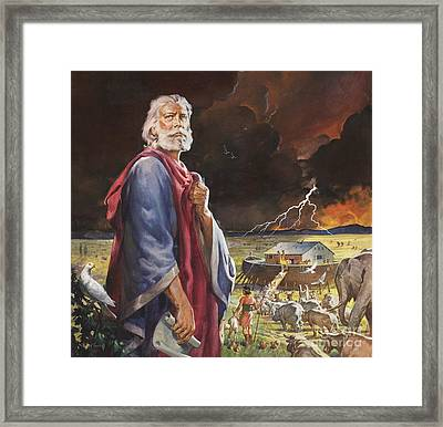 Noah's Ark Framed Print by James Edwin McConnell