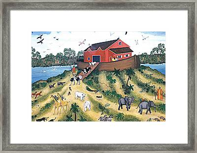 Noah's Ark Framed Print by Linda Mears