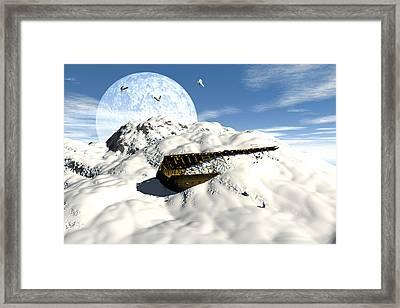 Noahs Ark On Arrarat Framed Print