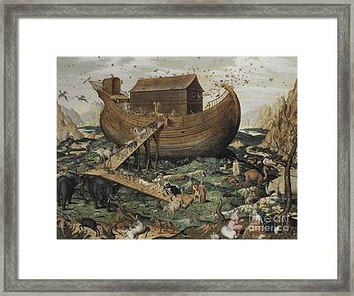 Noah's Ark On Mount Ararat, 1570 Framed Print