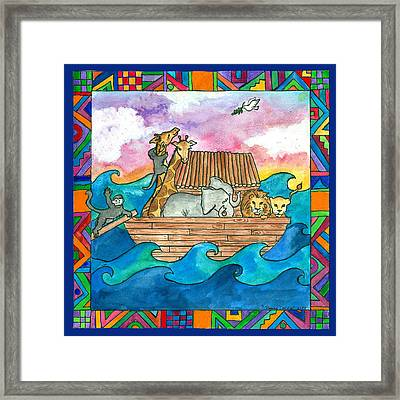 Noah's Ark Framed Print by Pamela  Corwin