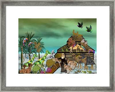 Noah's Ark Framed Print by Sher Magins