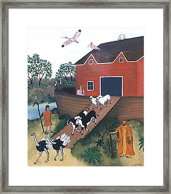 Noah's Ark Two Framed Print by Linda Mears