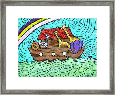 Noahs Ark Two Framed Print by Wayne Potrafka