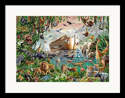 Flood Digital Art Framed Prints