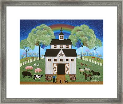 Noah's Barn Framed Print by Mary Charles