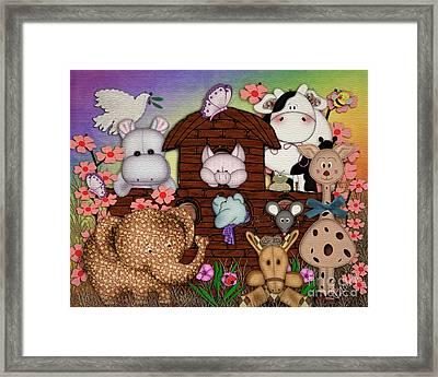 Noahs Friends Framed Print