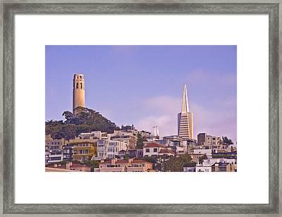 Nob Hill At Sunset Framed Print
