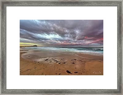 Nobbys Beach At Sunset Framed Print