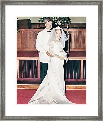 Nobel And Vernice Wedding Formal Portrai Framed Print