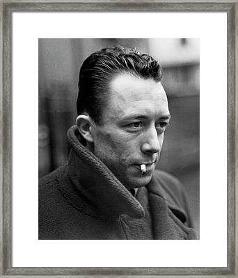 Nobel Prize Winning Writer Albert Camus Unknown Date #1 -2015 Framed Print by David Lee Guss