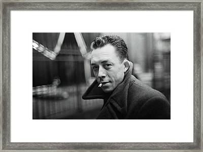 Nobel Prize Winning Writer Albert Camus  Unknown Date-2015           Framed Print by David Lee Guss