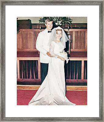 Noble And Vernice Wedding Formal Portrai Framed Print