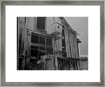 Noble Barn  Framed Print by Jason Dunning