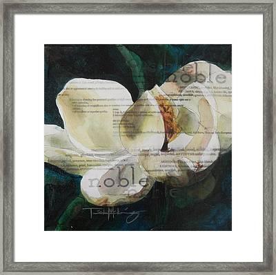 Noble - Magnolia Framed Print by Trish McKinney