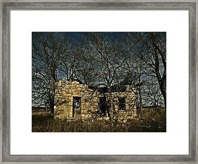 Nobody Is Home Framed Print by Chris Berry