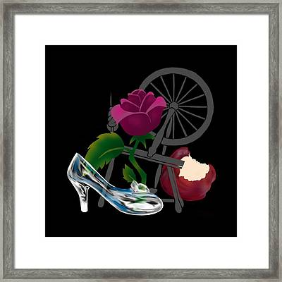 Nobody's Perfect, Even Princesses Framed Print