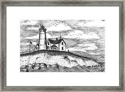 Nobska Point Light Framed Print