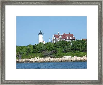 Nobska Point Lighthouse Framed Print