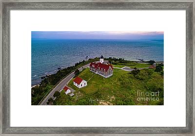 Nobska Point Lighthouse Framed Print