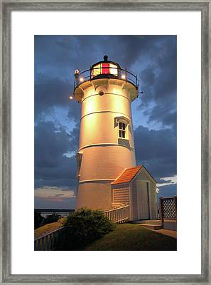 Framed Print featuring the photograph Nobska Point Lighthouse by Roupen  Baker