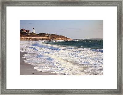 Nobska Point Seascape Framed Print