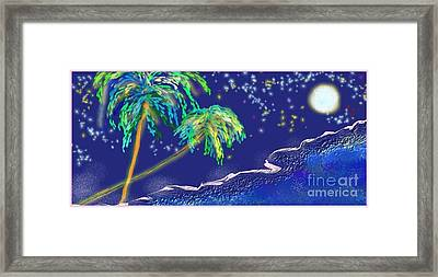 Framed Print featuring the painting Noche Tropical by The Art of Alice Terrill