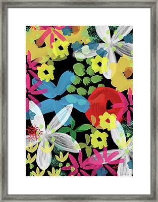 Nocturnal Garden- Art By Linda Woods Framed Print by Linda Woods