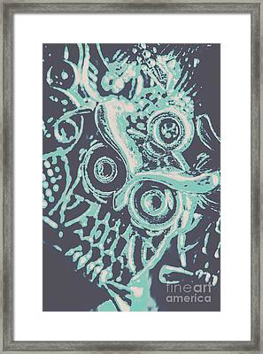 Nocturnal The Blue Owl Framed Print by Jorgo Photography - Wall Art Gallery