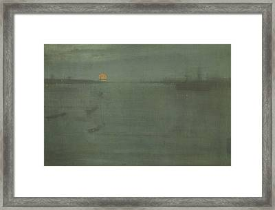 Nocturne Blue And Gold Southampton Water Framed Print