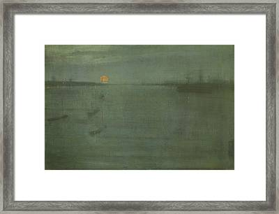 Nocturne In Blue And Gold - Southampton Water Framed Print by James Abbott McNeill Whistler