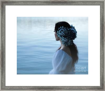 Nocturne In Blue Framed Print by Spokenin RED